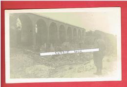 CHARTRES 1944 BOMBARDEMENT DU VIADUC DE OISEME CARTE PHOTO EN BON ETAT GASVILLE - Chartres