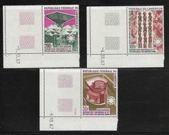 CAMEROUN  ( AFCA - 38 )  1967  N° YVERT ET TELLIER  POSTE AERIENNE N° 103/105  N** - Camerun (1960-...)