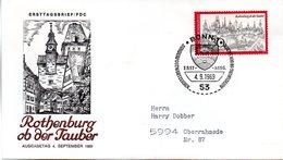 """BRD Schmuck-FDC: """"Rothenburg Ob Der Tauber"""", Mi. 603 ESSt 4.9.1969 BONN 1 - BRD"""
