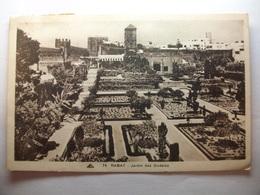 Carte Postale Maroc - Rabat - Jardins Des Oudaïas (  Petit Format Noir Et Blanc Oblitérée 1949 Timbre 5 Et 65 Centimes ) - Rabat
