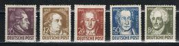 SBZ 234/238 Postfrisch - Goethe 1949 - Sowjetische Zone (SBZ)