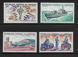 CAMEROUN  ( AFCA - 45 )  1966  N° YVERT ET TELLIER  POSTE AERIENNE N° 84/87  N** - Cameroun (1960-...)