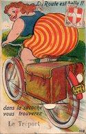 LE TREPORT  -  Carte à Système  -  La Route Est Belle Dans La Sacoche Vous Trouverez.. - Le Treport