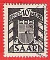 MiNr.38 D O Deutschland Saarland (1945-49) Dienstmarke - Usati
