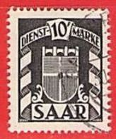MiNr.38 D O Deutschland Saarland (1945-49) Dienstmarke - 1947-56 Ocupación Aliada