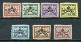 1939- VATICANO - SEDE VACANTE - 7 VAL.  M.N.H. LUXE !! - Vatican