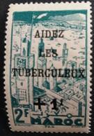 Marruecos: Año. 1945 - Protectorado, Frances, Año De La  Tuberculosis Sobrecargado. - Maroc (1956-...)