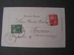 Argentina Karte 1902 Avenida Palmeras - Argentinien