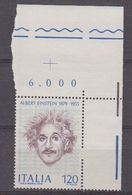 Italy 1979 Albert Einstein 1v (corner) ** Mnh (42487B) - 1946-.. Republiek