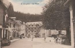 Suisse : SAINT-CERGUE : La Place - Avec Attelage Cheval ( Colorisée ) - VD Vaud