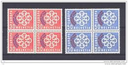 Suisse  -  1959  :  Yv  632-33  **   Blocs De 4         Europa - Suisse