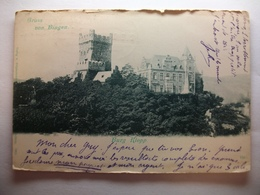 Carte Postale Allemagne - Burg Klopp - Gruss Von Bingen (  CPA Dos Non Divisé Oblitérée 3 Timbres Deutsches Reich ) - Autres