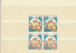 ITALIA 1980 - Sassone 1508 (quartina) . Castello Di Calascio - 1946-.. République