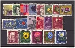 Suisse  :  Yv   602-620  (o)  Année 1958  Complète - Full Year                     ,    N2 - Oblitérés