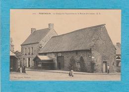 Pontmain. - La Grange De L'Apparition Et La Maison Barbedette. - ( Adressé à Mr Carnet Marchand à Saint-Maixent ). - Pontmain