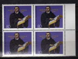 Germany - 1983 The 500th Anniversary Of The Birth Of Martin Luther.4 X Stamps. MNH - [7] République Fédérale