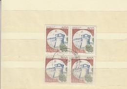 ITALIA 1980 - Sassone 1522 (quartina) . Castello Di Rovereto - 1946-.. République