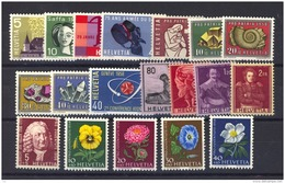 Suisse  :  Yv   602-620  **  Année 1958  Complète - Full Year - Suisse