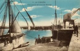 La Coruna - Vista Parcial Del Muro De Descarga - Galicia Espana - Animation - La Coruña