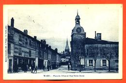 """CPA 52 Wassy """" Place Du Dome Et Rue Notre Dame """" - Wassy"""