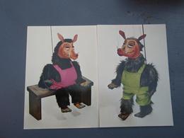 2 Cp Et La Marionnette Créa BABOLIN. - Fancy Cards