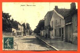 "CPA 52 Wassy "" Rue De La Gare "" - Wassy"