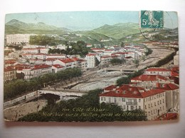 Carte Postale Nice (06) Vue Sur Le Paillon ,prise De Saint François (Petit Format Oblitérée 1908 Timbre 5 Centimes ) - Multi-vues, Vues Panoramiques