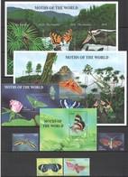T972 GAMBIA BUTTERFLIES MOTHS OF WORLD #4608-24 MICHEL 66 EURO SET+2BL+2KB MNH - Schmetterlinge