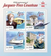 Sierra Leone 2015  Jacques-Yves Cousteau ,Oceanographic Museum Of Monaco, Ship - Sierra Leone (1961-...)