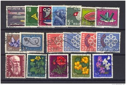 Suisse  :  Yv   621-638  (o)  Année 1959  Complète - Full Year - Oblitérés