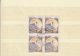 ITALIA 1980 - Sassone 1513 (quartina) . Miramare - Trieste - 1946-.. République