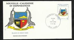 N.C.   Lettre Premier Jour Mont D'Or Le 11/10/1986 N° 524  Blason Du Mont D'Or   Dauphins TB Soldé  ! ! ! - Briefe U. Dokumente