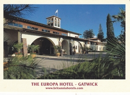 England Sussex Gatwick Europa Hotel Postcard Unused Good Condition - Other