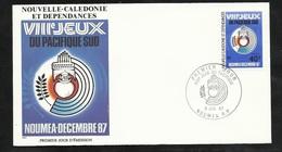 N.C.   Lettre Premier Jour Nouméa Le 08/07/1987 N° 540  VIIIèmes Jeux Du Pacifique Sud  TB Soldé  ! ! ! - Briefe U. Dokumente