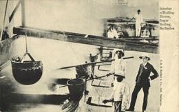 Barbados B.W.I., Interior Of A Sugar Boiling House (1905) Postcard - Barbados (Barbuda)
