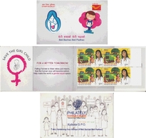 India 2015  Beti Bachao  Beti Padhao Save Girl Chils Stamps Booklet   #  17660  D India Inde Indien - Unused Stamps