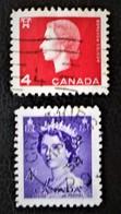 SERIE COURANTE 1954/62 - OBLITERES - YT 270 + 331 - 1952-.... Regno Di Elizabeth II