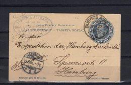 Card Buenos Aires 1904 To Hamburg Germany (za107) - Ganzsachen