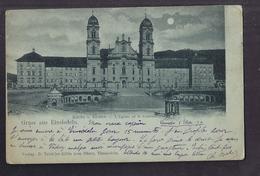 CPA SUISSE - EINSIEDELN - GRUSS AUS EINSIEDELN - Kirche U. Kloster - L'Eglise Et Le Couvent CP Voyagée 1899 - SZ Schwyz