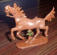 Figurine Plastique Vintage CHEVAL MARRON - W. Germany - Miniature