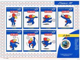 Timbre Rond 3.00F 1998 Sur Planche Footix 7 Vignettes      Let05 - Adhésifs (autocollants)