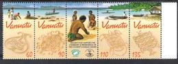 Vanuatu 2001 Sand Drawings Strip MNH CV £5.00 - Other