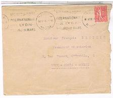 Lettre 1928 Conseil Juridique  Pour Lyon    Let01 - Marcophilie (Lettres)