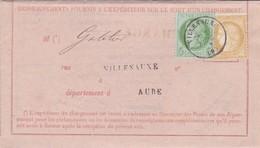 N° 53 N° 59 S / Sort D' Un Chargement T.P. Ob T 16 Villenauxe 30 Sept 73 - Marcophilie (Lettres)