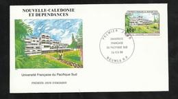 N.C.   Lettre Premier Jour Nouméa Le 24/02/1988 N° 550  Université Française Du Pacifique Sud   TB   ! ! ! - Briefe U. Dokumente