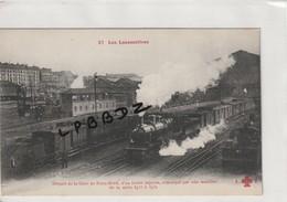 CPA - 75 - PARIS 10e - GARE De PARIS NORD - Départ D'un Train Express Remorqué Par Un Machine De La Série 3513 à 3537 - Pariser Métro, Bahnhöfe