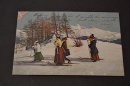 Carte Postale 1909  Suisse Femmes A Ski - Suisse