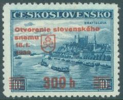 SLOVAQUIE - 1939 - MVLH/* - OVERPRINT - Yv 35A - Lot 19425 - Neufs