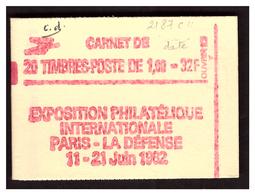 Liberté De DELACROIX Carnet N° 2187 C4 Daté - Markenheftchen