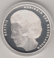 Fifty Guilder Coin 1990 Centennial Of Four Queens Silver 925% 25 Grams Proof Con Astuccio Originale - [ 3] 1815-… : Regno Dei Paesi Bassi